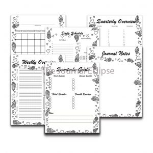 Monthly Heart Rose Planner