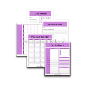 Pink Goal Planner with perpetual calendar