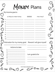 Heart Confetti Monthly Money Planner